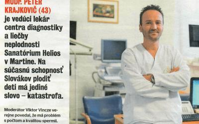 Magazín ŽIVOT – rozhovor s MUDr. Krajkovičom